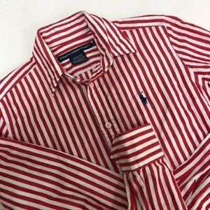 Ralph Lauren linen cotton red white oxford shirt 2